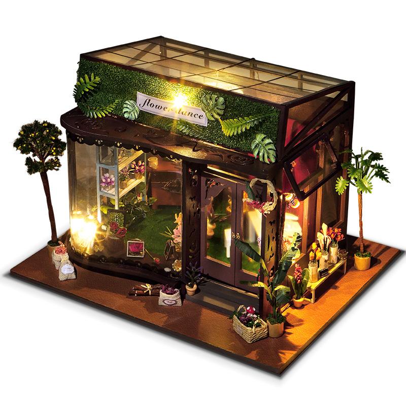 T-Yu TD19 Цветочный танцевальный дом DIY Кукольный домик с обложкой Коллекция подарков для подарков