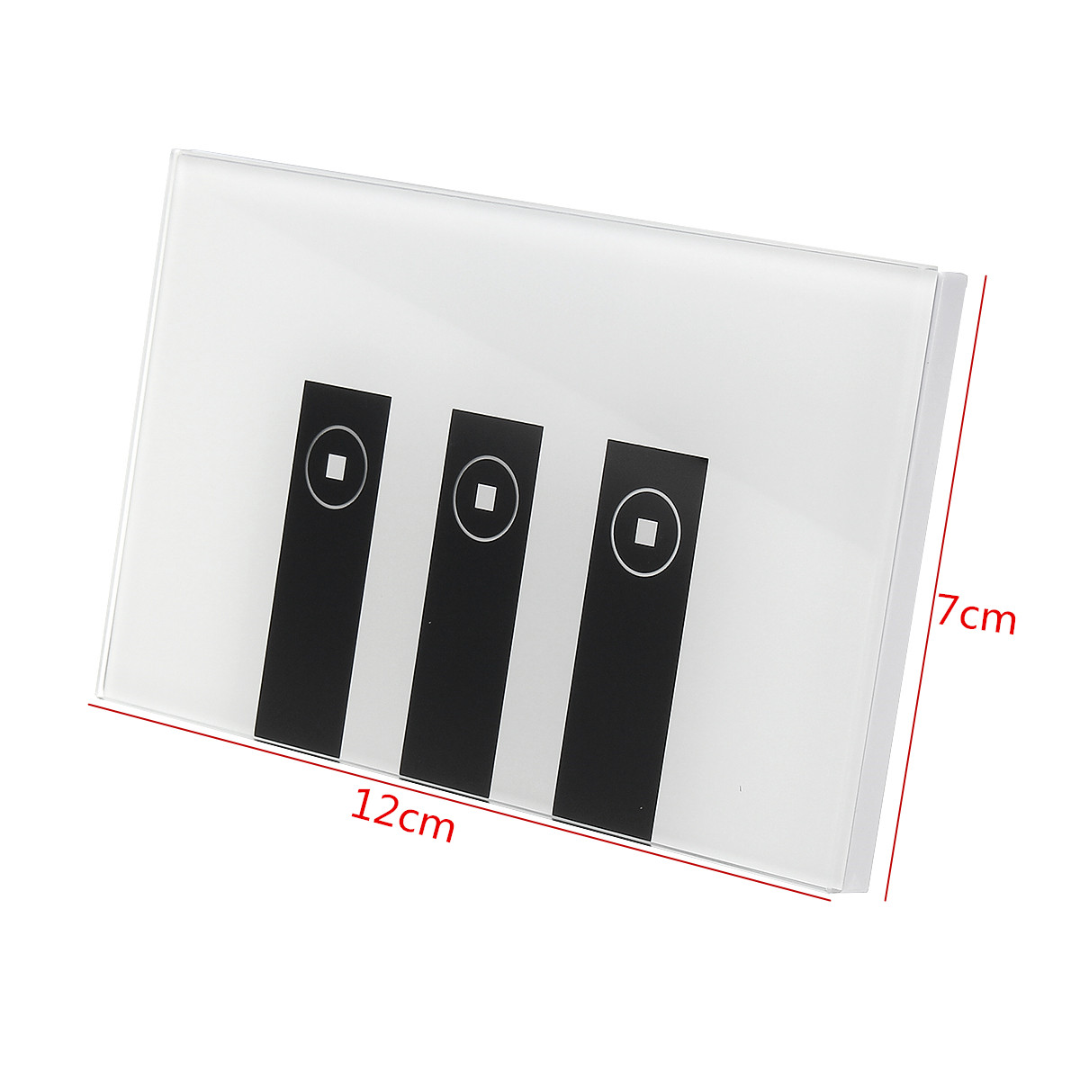 Excellway® US AC90-250V 10A Tempered Glass Smart Home Touch Sensor Switch Panel