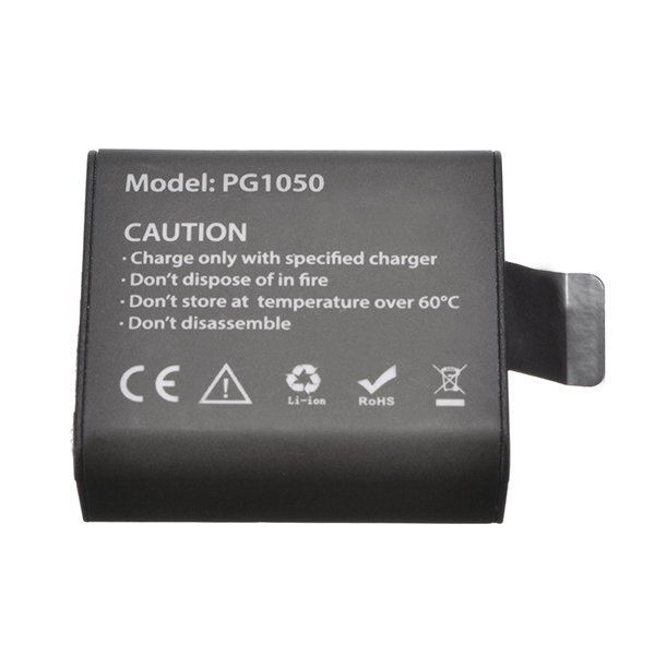 PG1050 Rechargeable Li-ion Spare Battery 1050mAh for Eken V8s H8 H9 H8R H9R H8 Pro Sport Action Camera