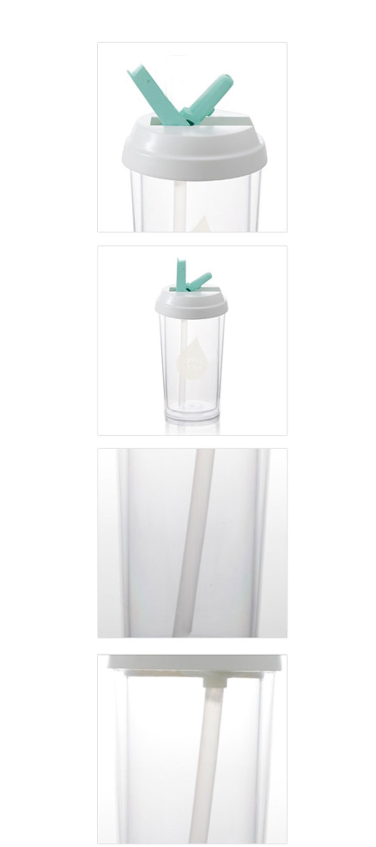 Double Leak-proof Large Capacity Thermos Cup Straw Cup Plastic Office Used Cups
