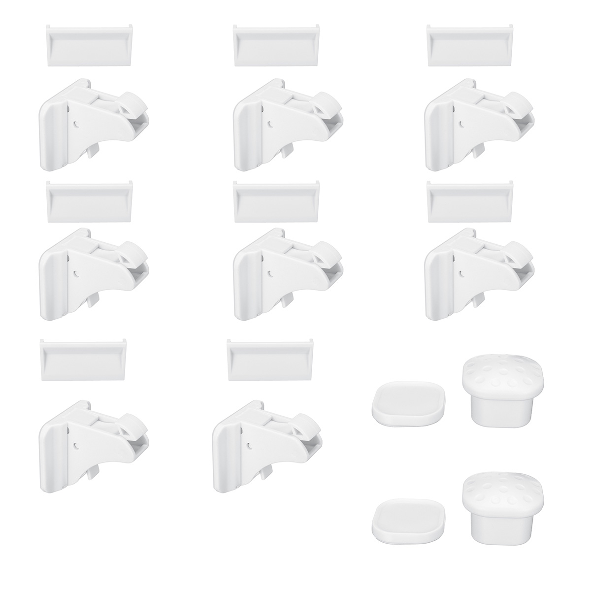 8pcs Lock+2 Key Magnetic Child Lock Baby Safety Baby Protection Cabinet Door Lock Kids Drawer Locker Security Invisible Locks