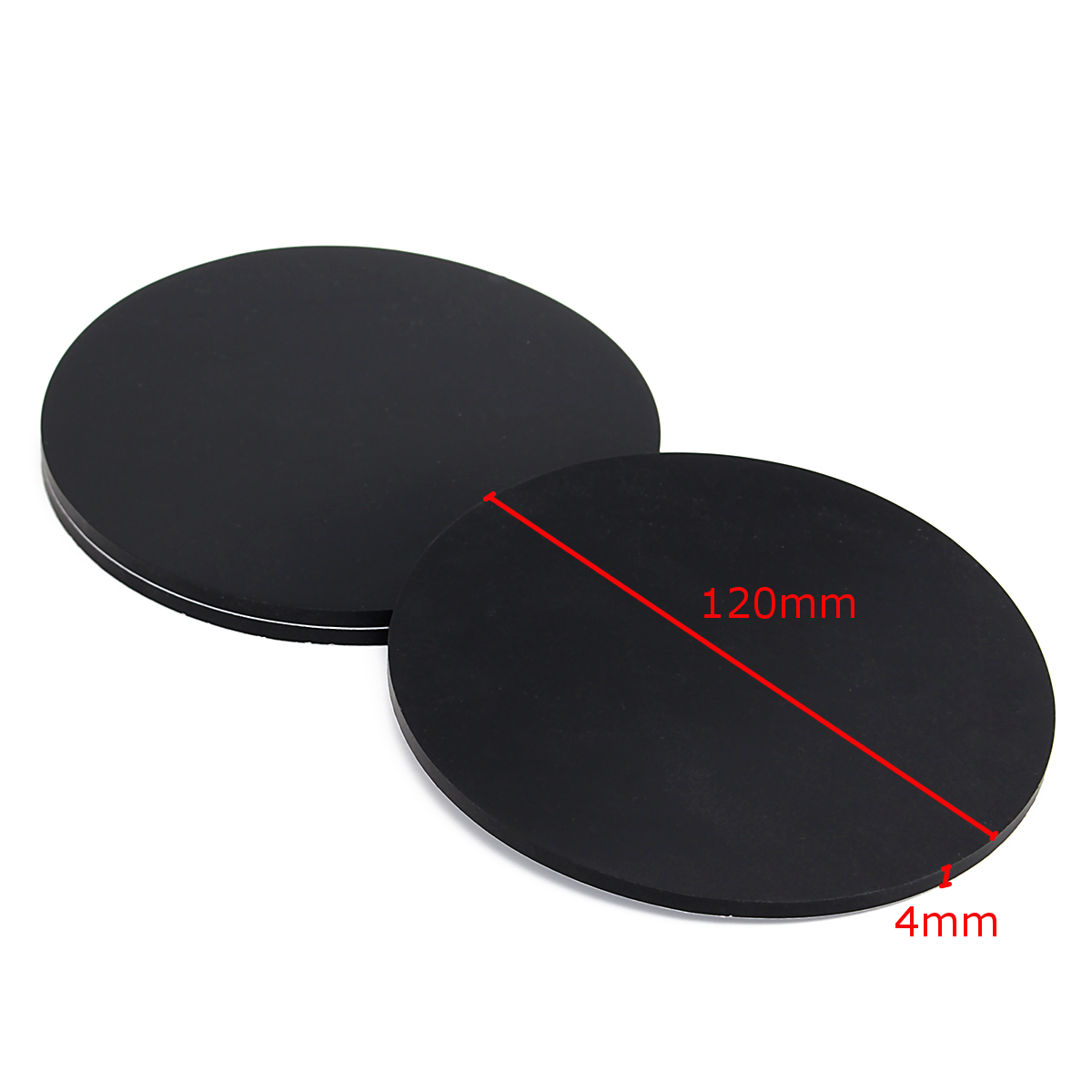3Pcs 120mm Round Black Silicone Oval Model Bases Support for Wargames Table Games