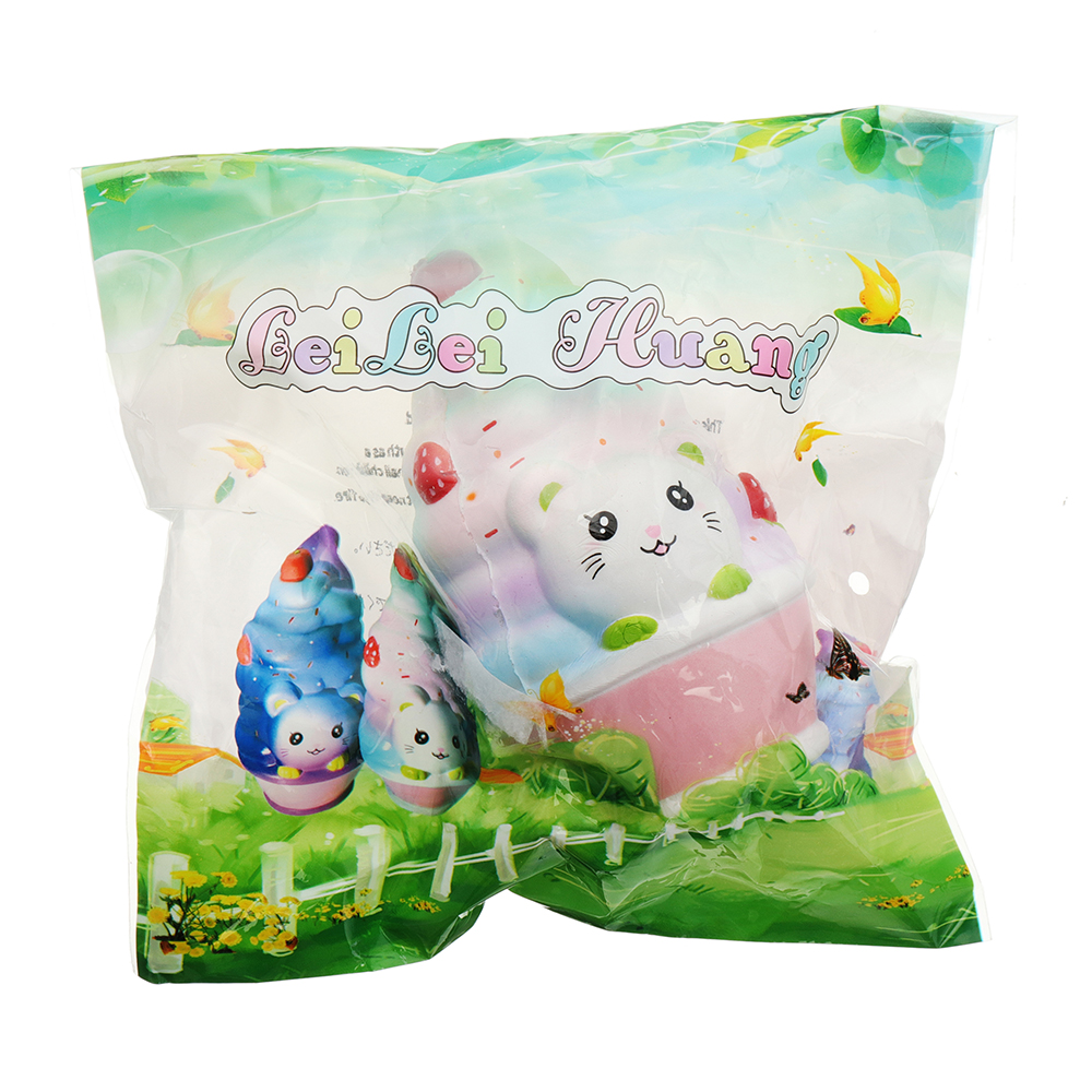 LeiLei Cat Ice Cream Squishy 12CM Slow Rising With Packaging Collection Gift Soft Toy