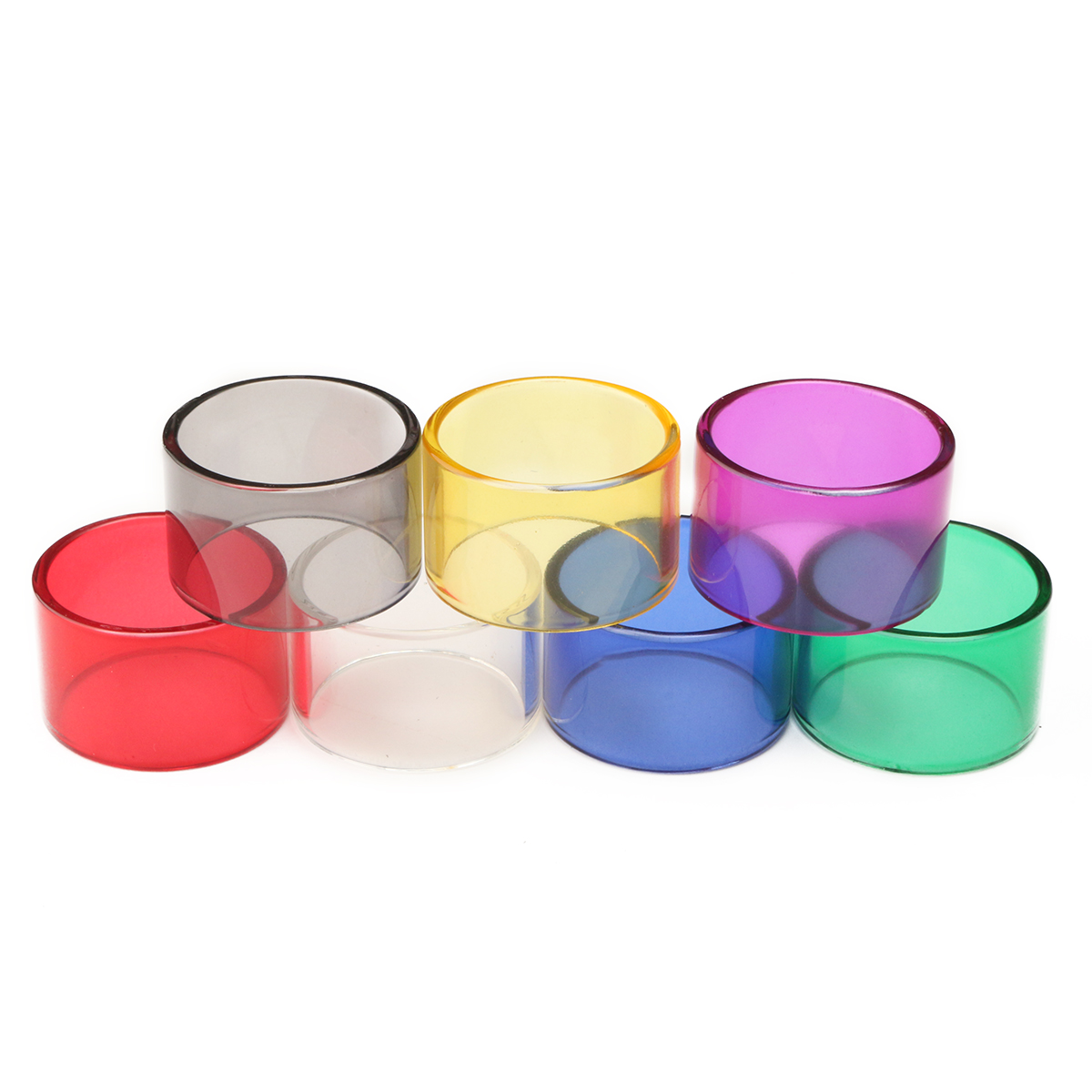 Replacement Transparent Pyrex Glass Tube Cap Tank 24mm for Limitless RDTA 7 Colors