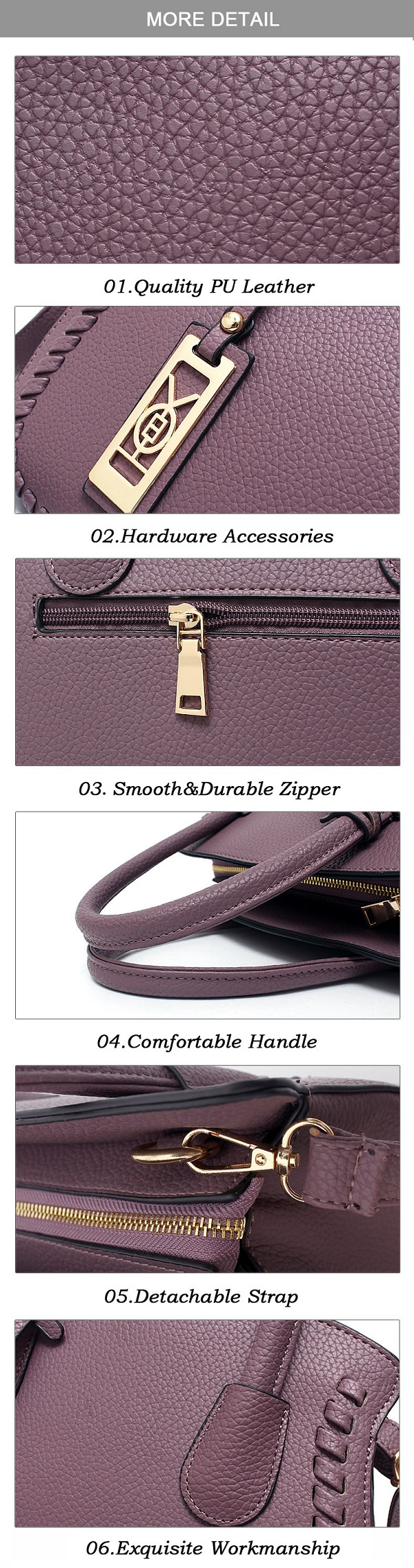 Women Quality PU Leather Elegant Vintage Capacity Handbag Shoulder Bag