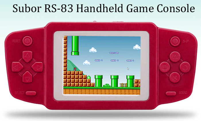 Subor RS-83 2.5 inch Screen Wireless WiFi Handheld Game Console for Kids Built-in 268 Games