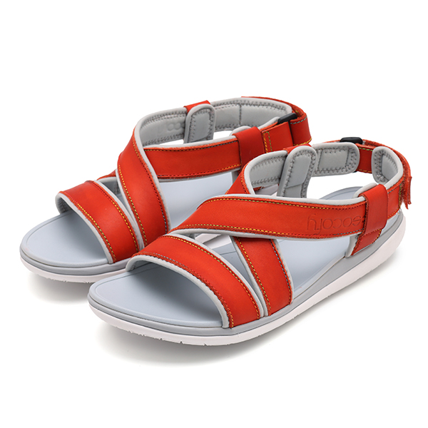 SOCOFY Casual Leather Stitching Soft Flat Sandals