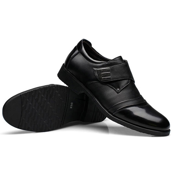 Men Hook Loop Genuine Leather Formal Business Shoes