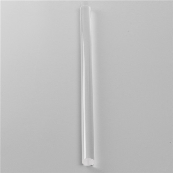 25mm x 300mm Transparent Acrylic Round Rod Clear Solid Bar