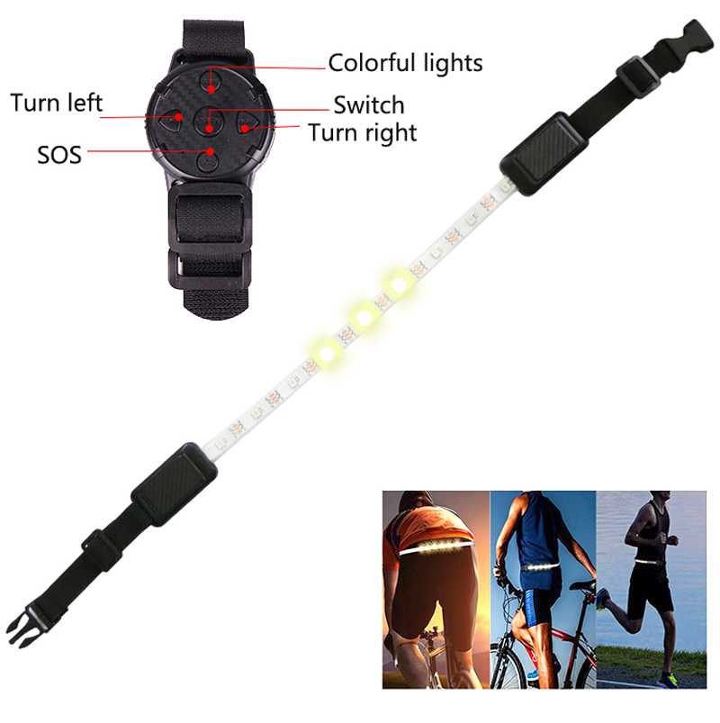 XANES B1 4Modes USB Rechargeable Adjustable Length Remote Control Security LED Flashlight Strip Light