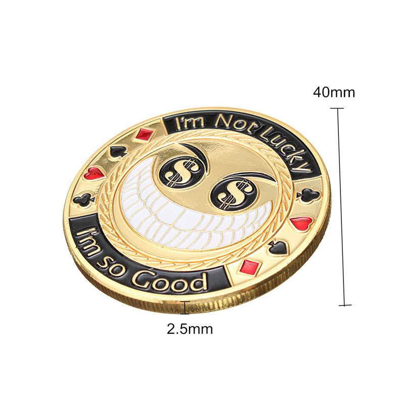 Metal Poker Guard Card Protector Coin Chip With Round Plastic Case
