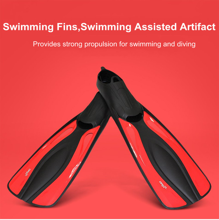 COPOZZ Professional Long Submersible Swimming Fins Flexible Webbed Snorkeling Diving Foot Flipper