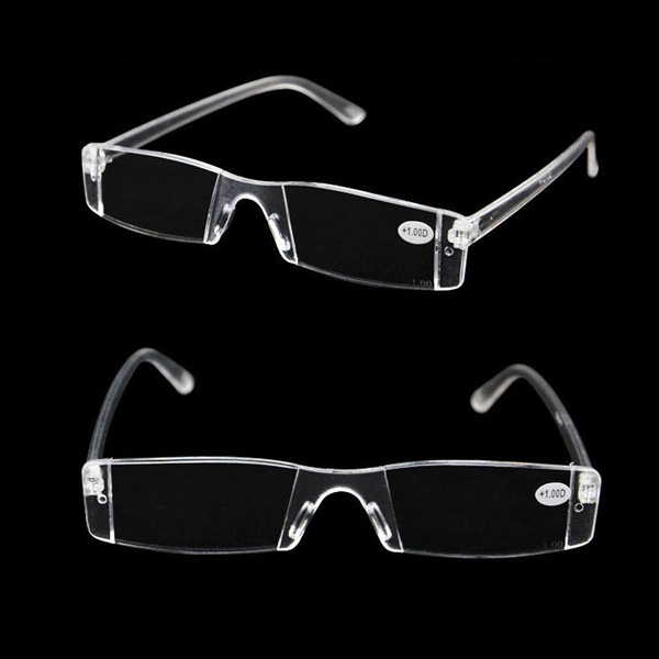 One Piece Rimless Comfortable Magnifying Reading Glasses Fatigue Relieve Strength 1.0 1.5 2.0 2.5 3.0 3.5 4.0