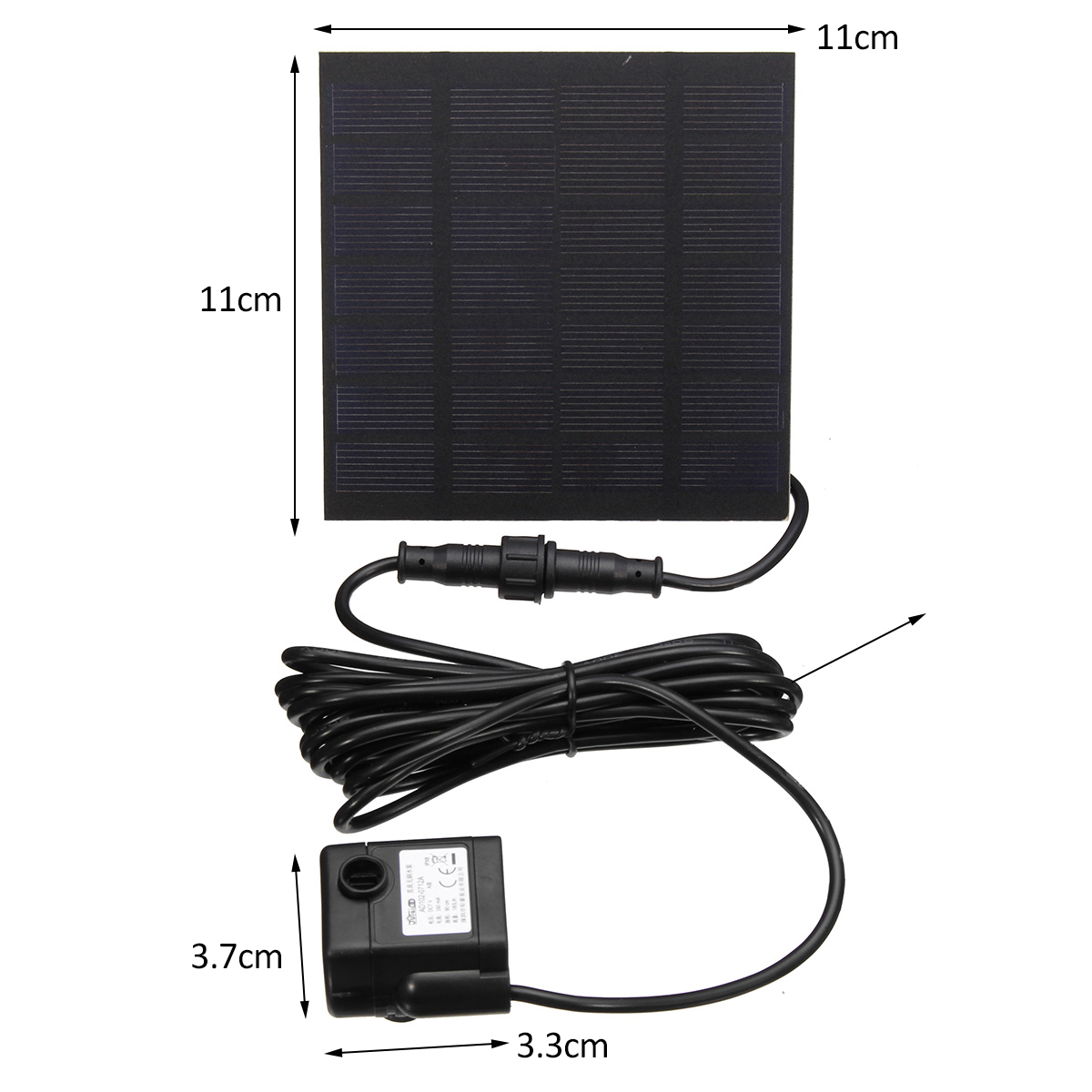 1.2W 7V Solar Powered Submersible Fountain Water Pump Panel Garden Pool Pond 160L/h
