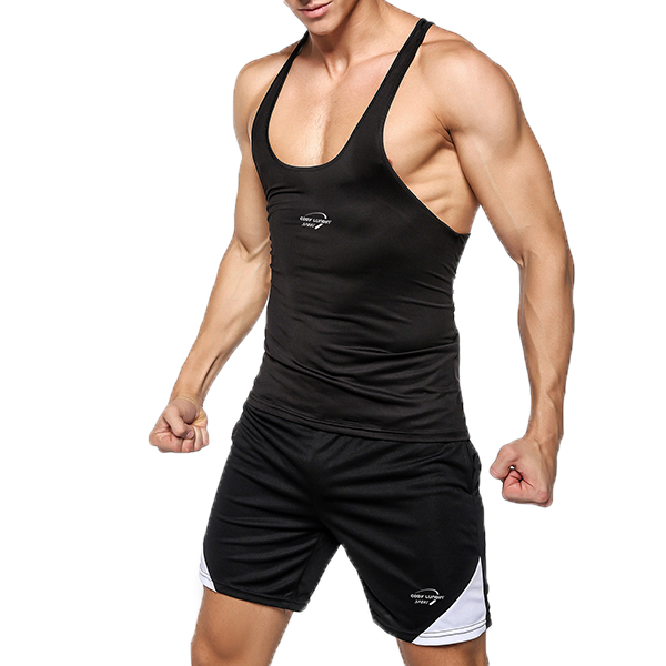 Mens Sexy Bodybuilding Quick Drying Vest Fitness Skinny Fit Training Sport Tank Tops