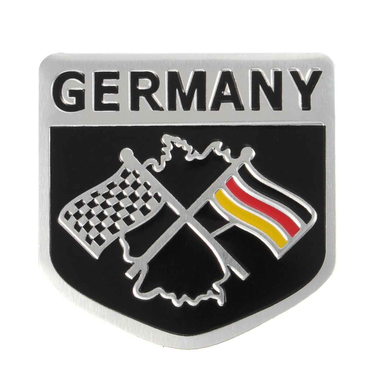 Alloy Metal Racing German Flag Emblem Badge Decal Decorative Sticker