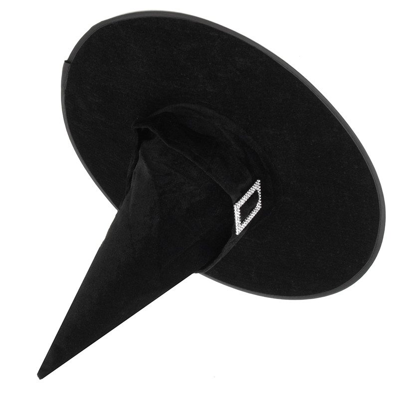 Halloween Witch Black Pointy Hat Adult Kids Cosplay Costume