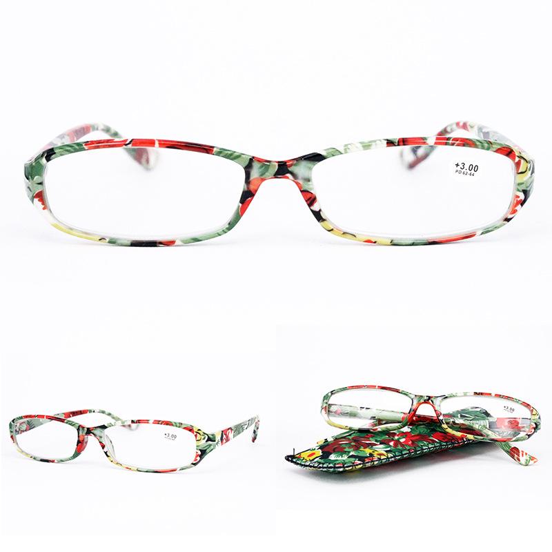 Lightweight Full Frame Floral Resin Reading Glasses