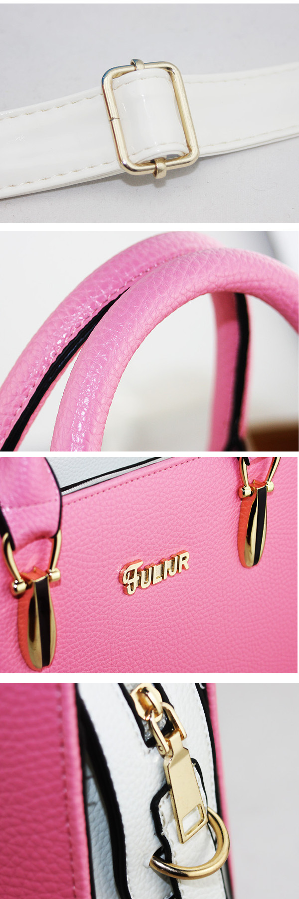 Women PU Leather Candy Color Tote Bags Casual Shoulder Bags Crossbody Bags