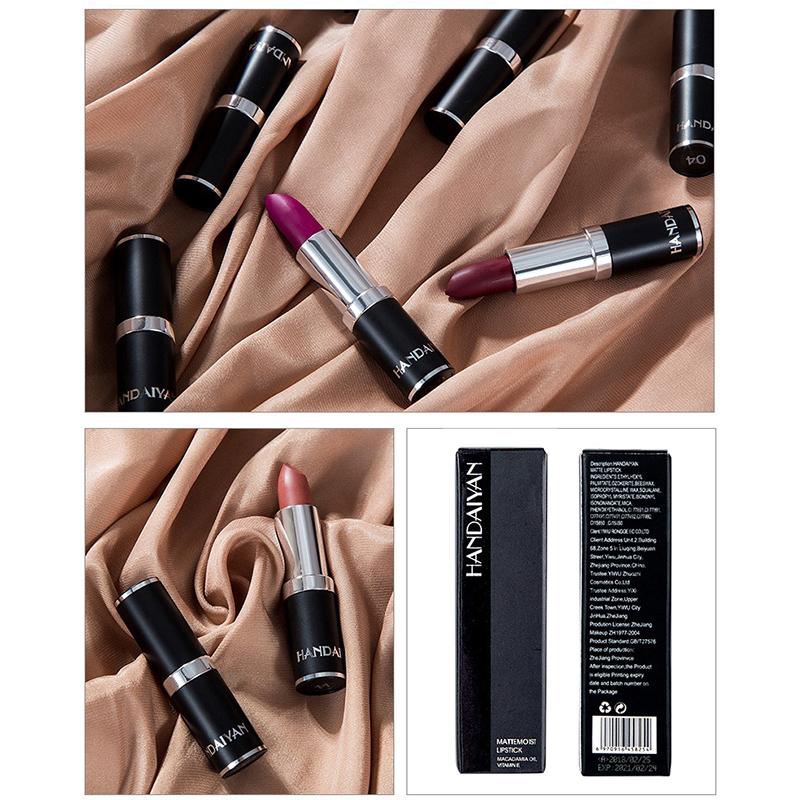 12 Color Velvet Matte Lip Stick Moisturizer Lip Makeup