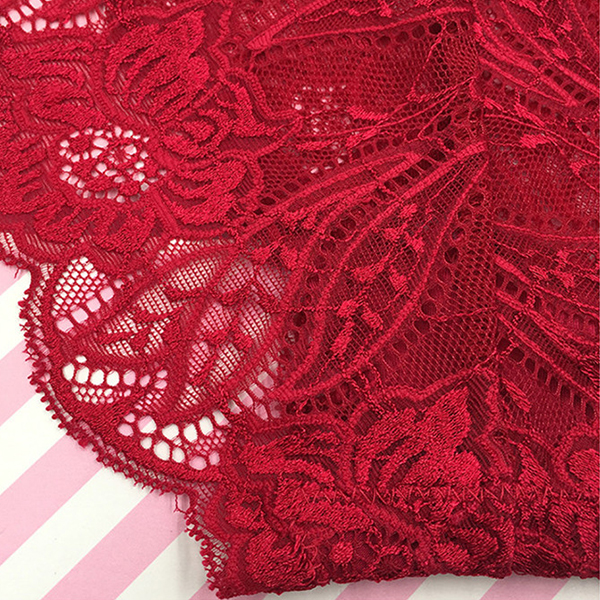 Full Lace Embroidery Elasticity High-cut Briefs