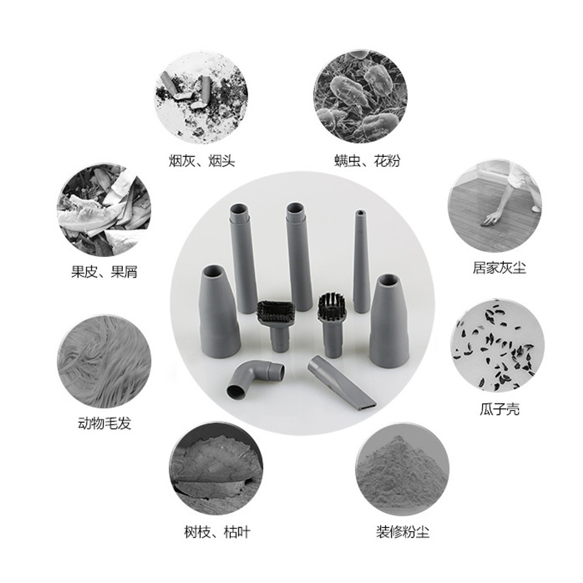 9Pcs Universal Attachments Tools Kit For Vacuum Cleaner Parts Accessories Replacement