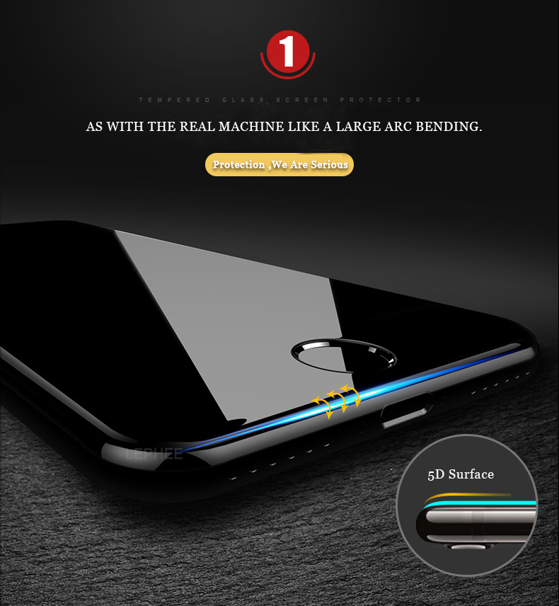 Bakeey 0.2mm 5D Curved Edge Cold Carving Tempered Glass Screen Protector For iPhone 7