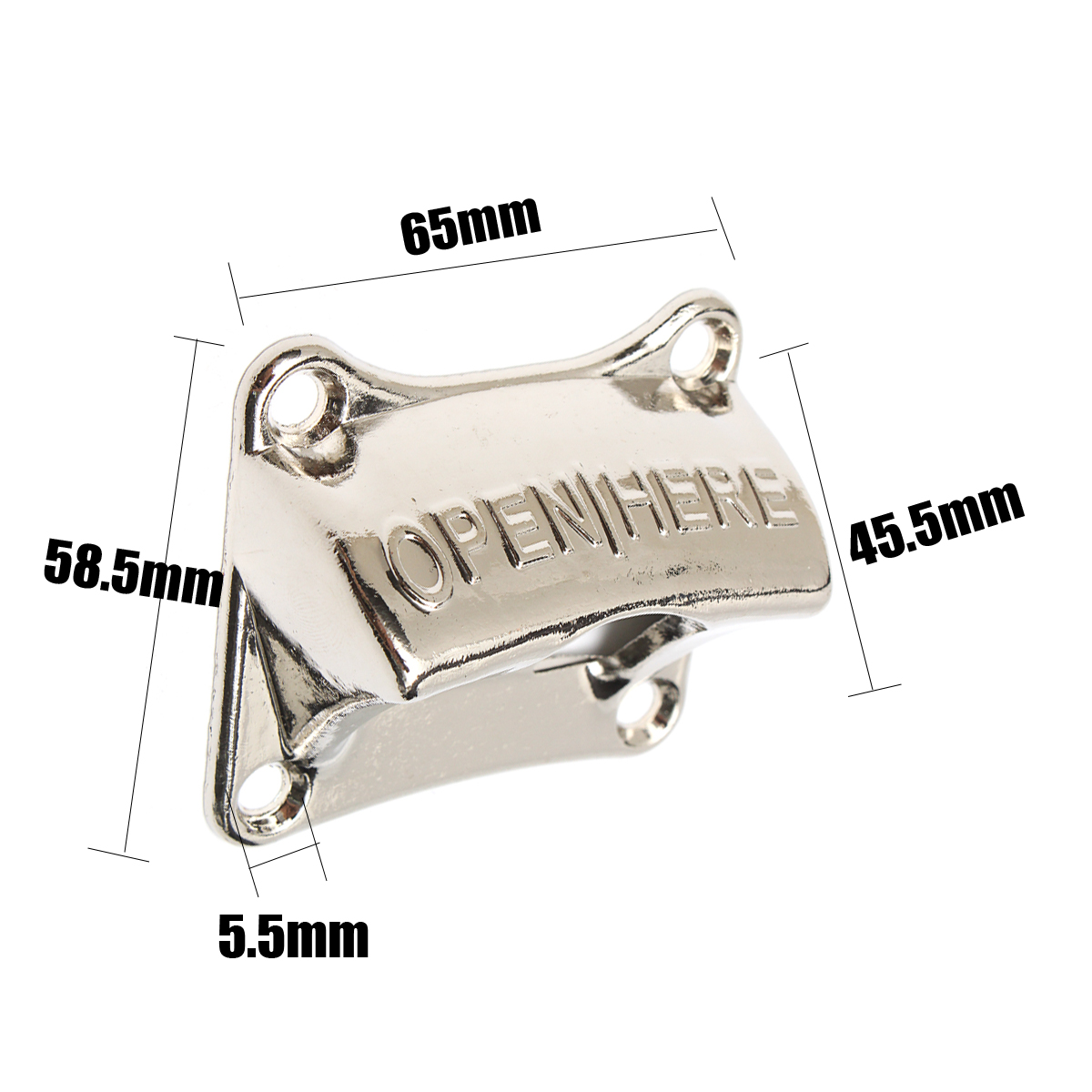 Creative Zinc Alloy Wall Mounted Bottle Opener Beer Soda Glass Bottle Opener