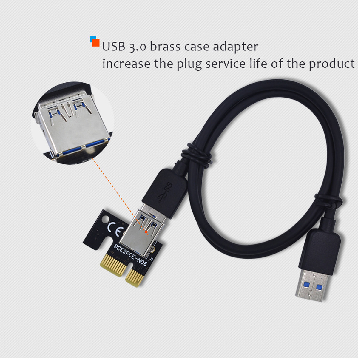 PCI-E Riser Card 1x to 16x USB 3.0 VER 007S 008S 009S Mining Extender Board BTC Expansion Card