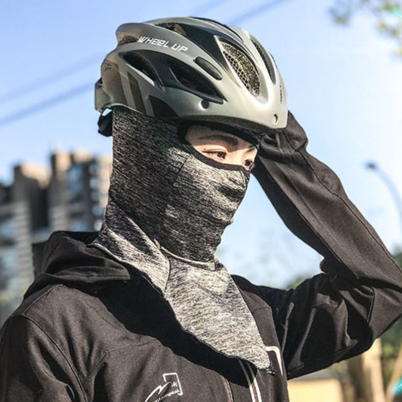 Men Ice Silk Outdoor Sports Sunscreen Riding Face Mask