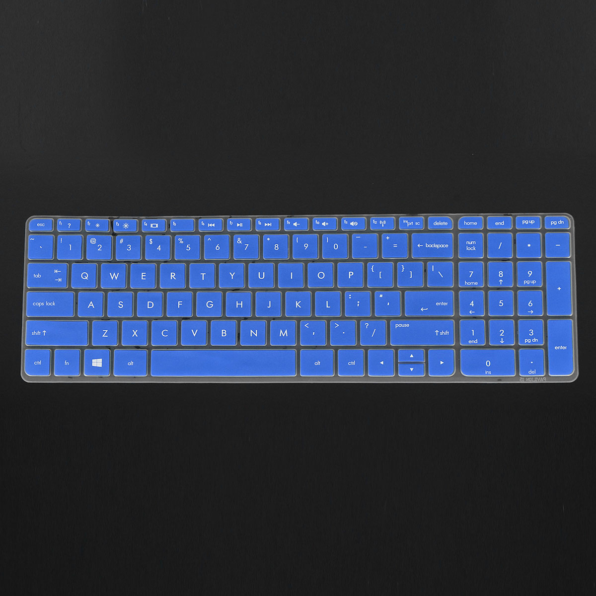 Transparent/Black/Blue/Purple/Rose Red Notebook Keyboard Protector Keyboard Cover for HP Pavilion 15