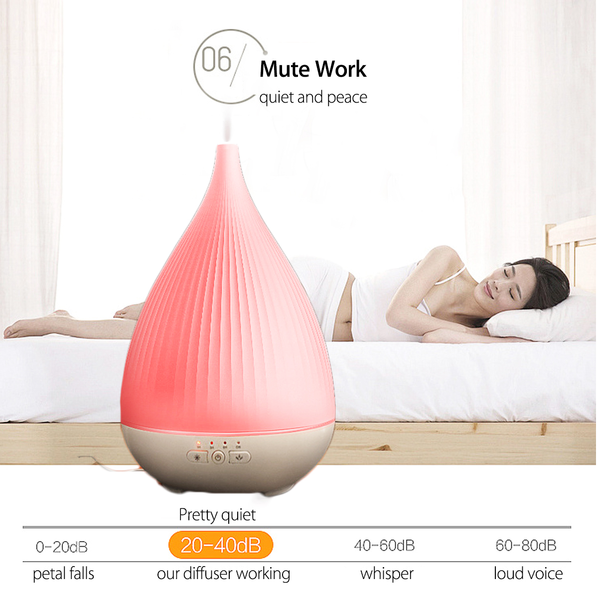 WiFi Smart Ultrasonic Oil Diffuser Humidifier