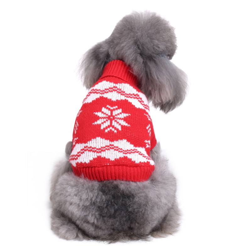 Dog Clothes & Shoes Christmas Snowflake Pet Dog Cat Autumn Winter Sweaters Warm Pullover Hoodie Costume Vallejo ads buy