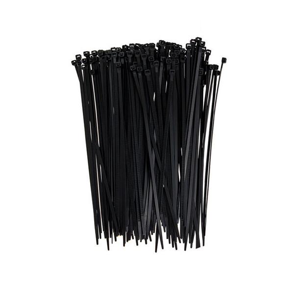 1000pcs Bulk Cable Ties Zip Ties Black 5mm x 300mm Nylon Ties