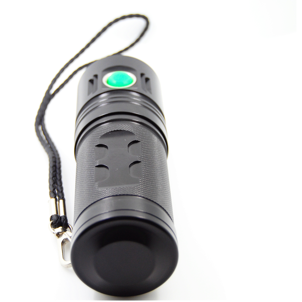 SHUOLIDE 1300C XHP70 3500Lumens 4Modes Dimming USB Rechargeable Portable LED Flashlight 18650