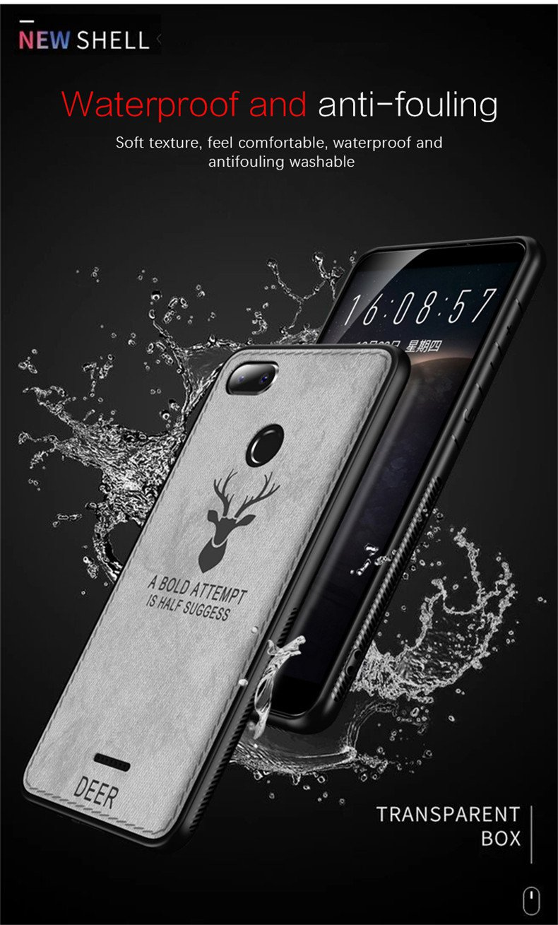 Bakeey™ Deer Pattern Shockproof Cloth Soft TPU Back Cover Protective Case for Xiaomi Redmi 6A