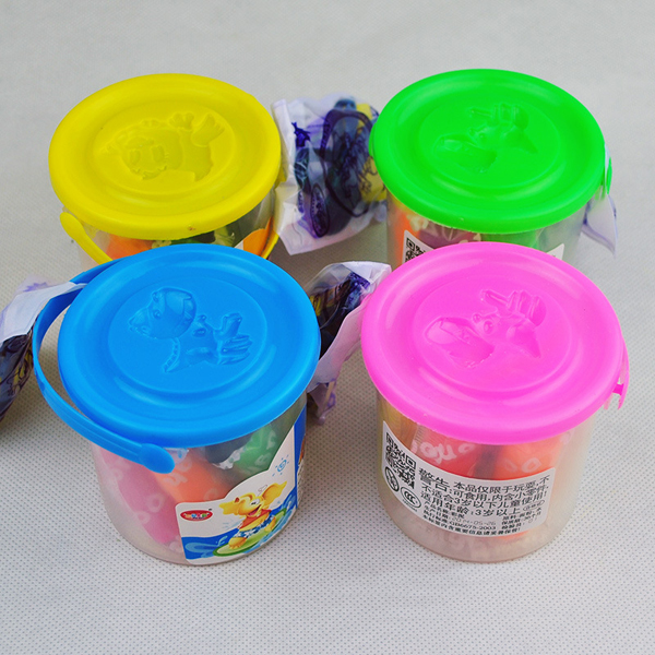 DIY Handmade Rubber Clay Bucket Mud Color Mold Set Kids Educational Toy