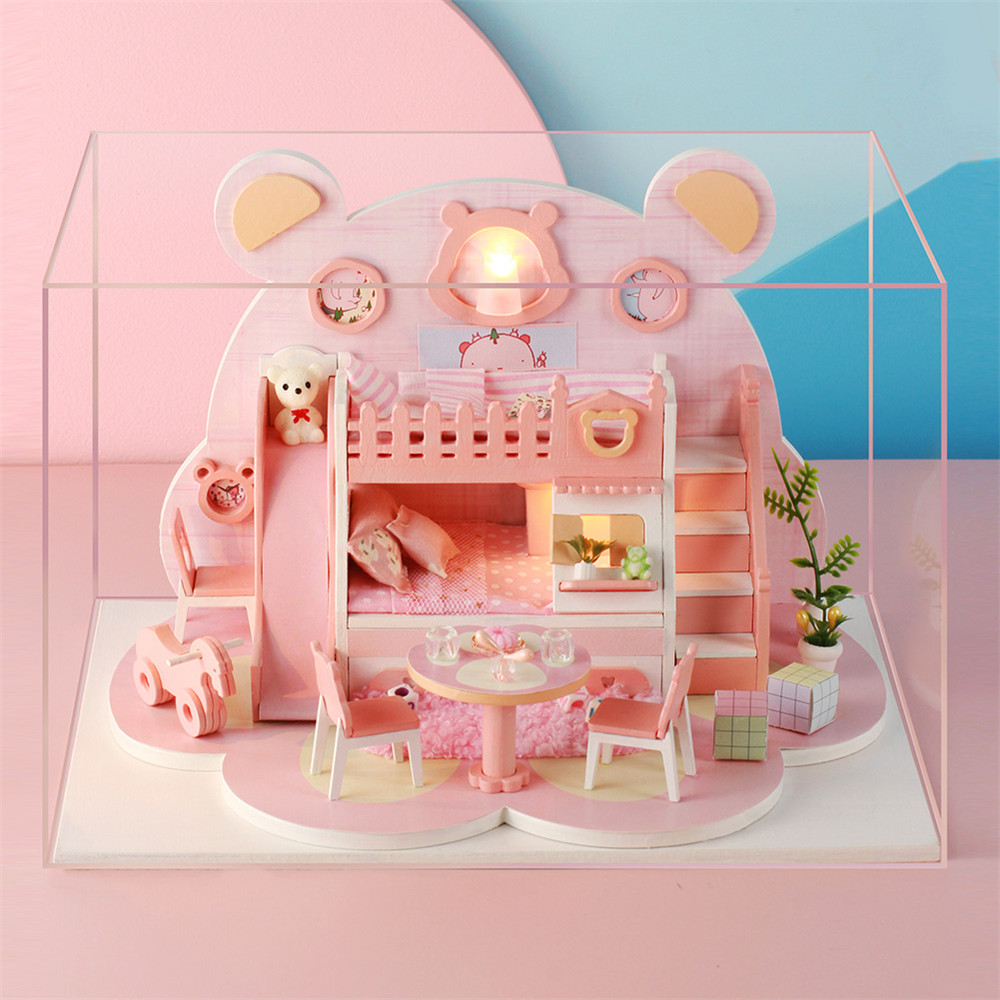 Iie Create DIY Cottage Hand-Assembled Doll House Bear Dream Factory Model P001 - Photo: 8