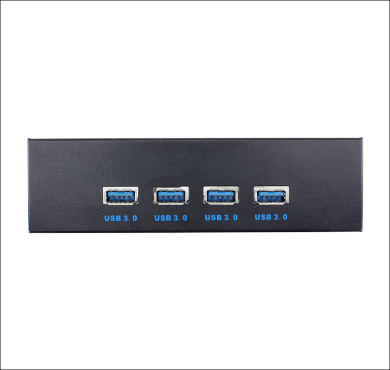Ult Unite High Speed 4 USB3.0 Ports Hub Optical Drive Bay Front Panel for Desktop PC Case