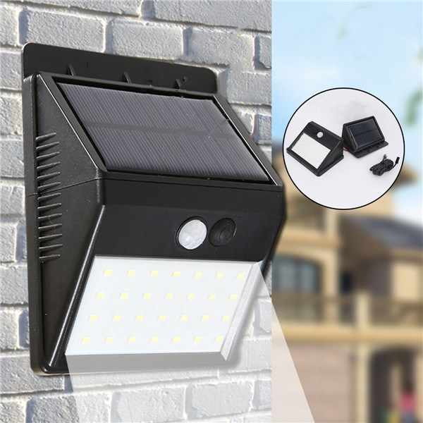 28 LED Solar Lights PIR Motion Sensor Waterproof Wall Light Separable Spotlight Outdoor Garden Lamp