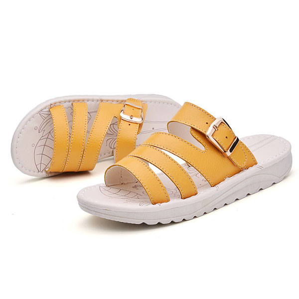 US Size 5-10 Casual Beach Slipper Leather Breathable Sandals