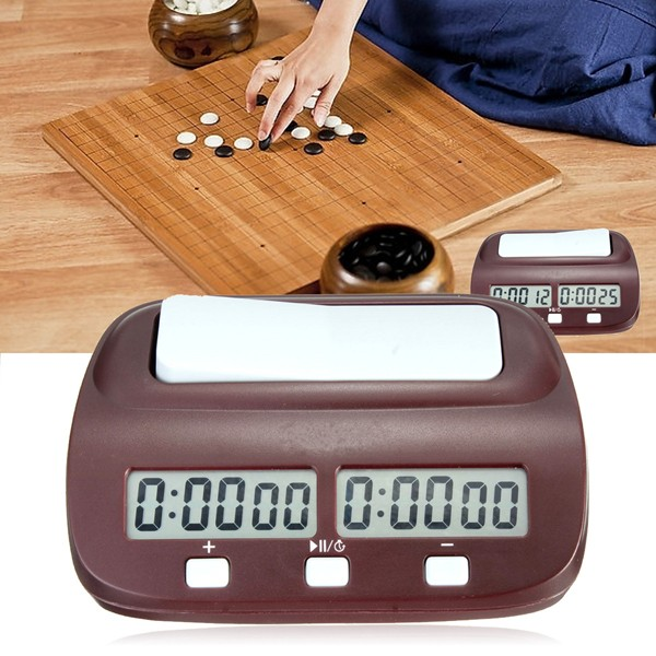 Compact Digital Electronic Chess Clock Countdown Game Timer For Board Game Player