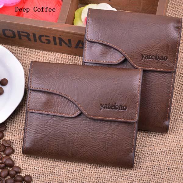 Men Business Leather Multifunctional Vertical Horizontal Money Bag Wallet