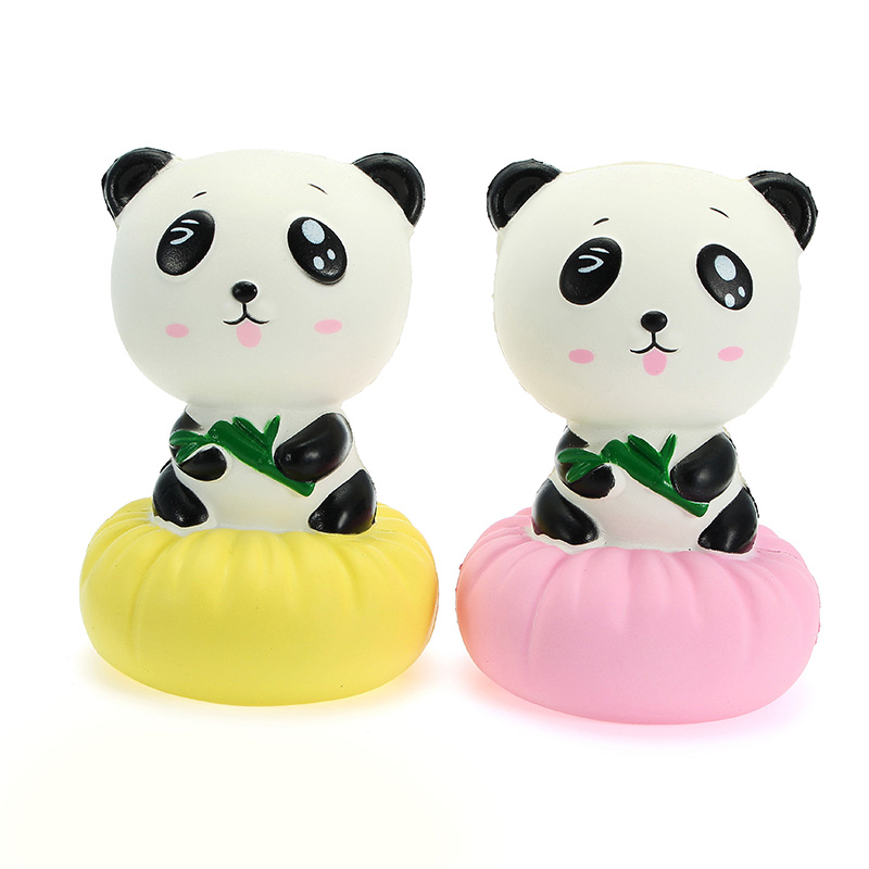 Xinda Squishy Panda Bun 12cm Soft Slow Rising With Packaging Collection Gift Decor Toy