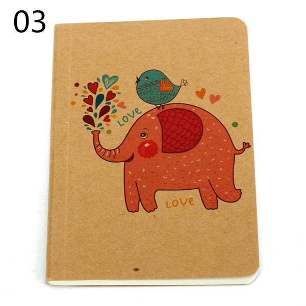 Cute Animals Cover Blank Pages Mini Pocket Notebook Journal Diary Notebook