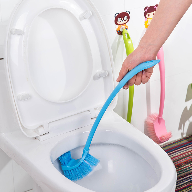 Honana BX-131 Thick Plastic Long Handle Toilet Brush Double Corner Cleaning Brush For Bathroom Accessories
