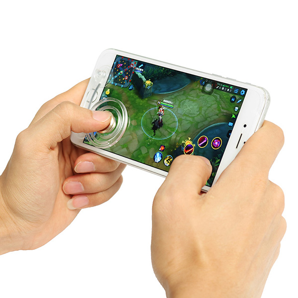 Clear Mobile Touch Screen Game Joystick Controller Sucker for Mobile Phone Tablet
