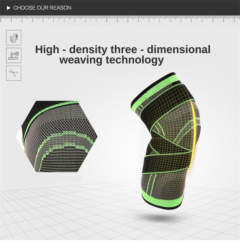 BIKIGHT Sports Knee Pad Support Sleeve Protector Adjustable Elastic Nylon Fitness Running Cycling Knee Brace