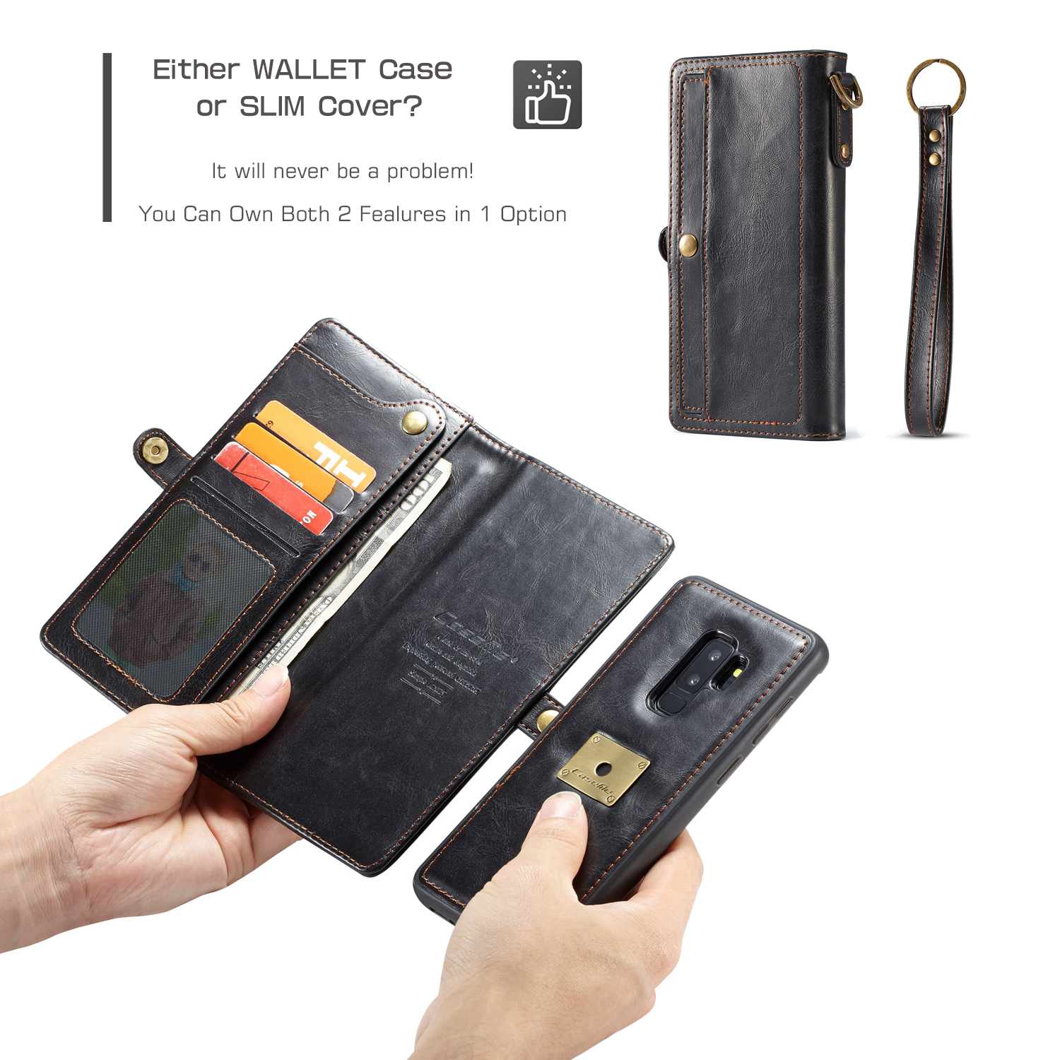 Caseme Detachable Wallet Protective Case For Samsung Galaxy S9 Plus
