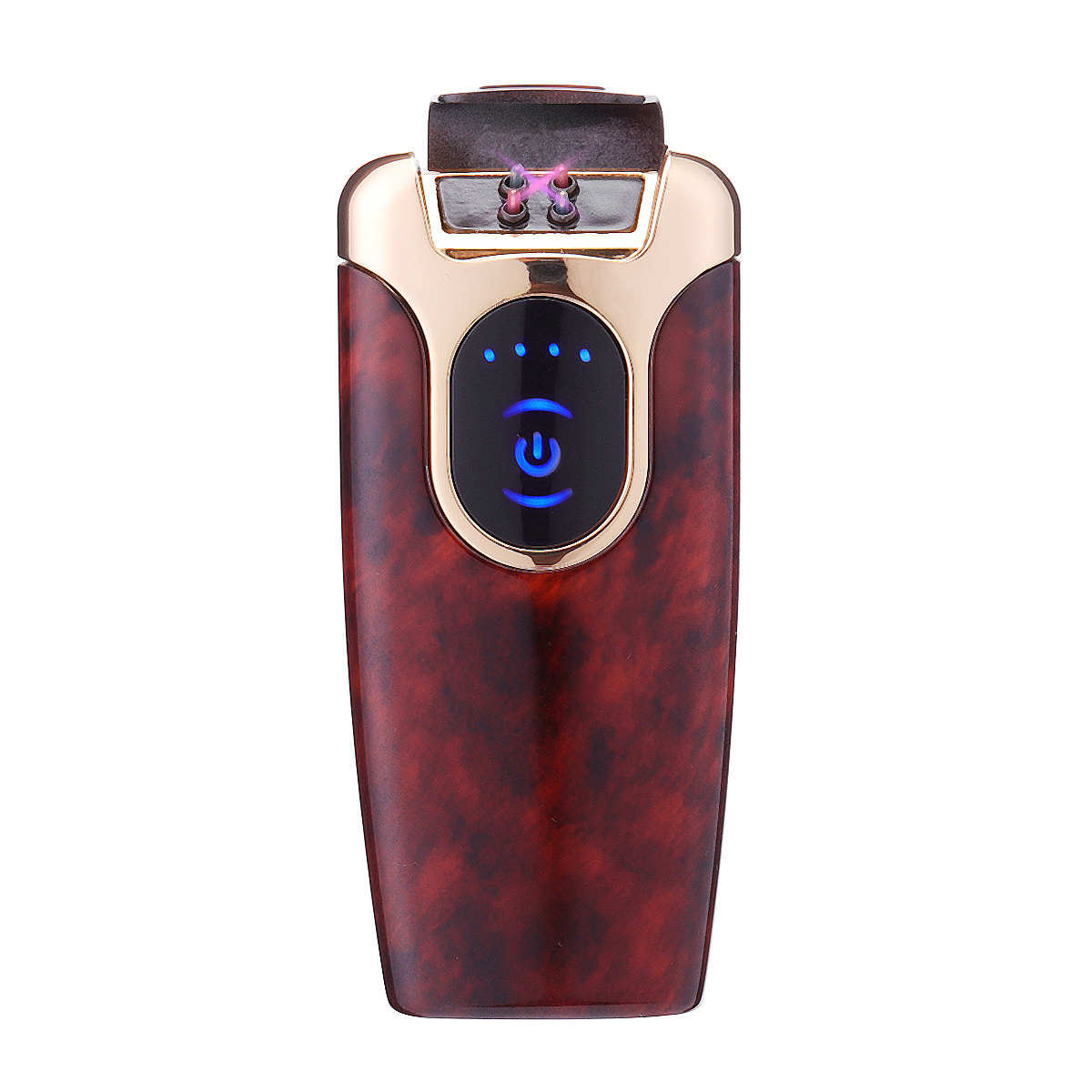 KCASA KC-801 Double Arc Touch Screen Inductive Lighter LED Power Display Electric USB Lighter Windproof